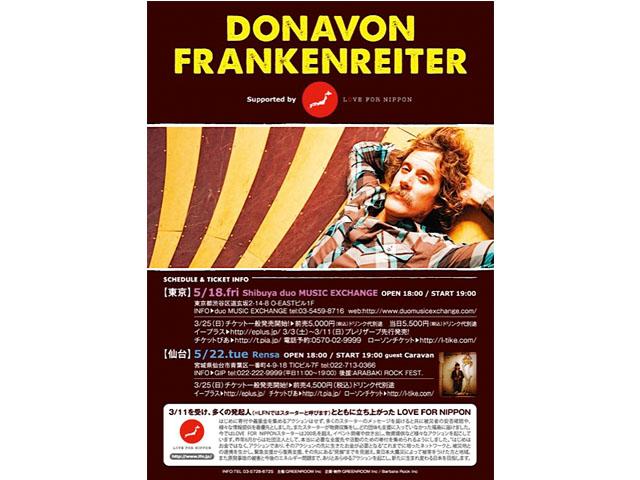 DONAVON FRANKENRAITER & LOVE FOR NIPPON