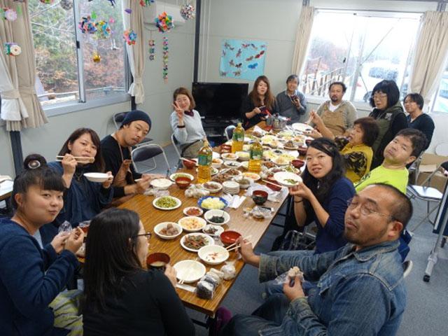 12月の月命日を福島県二本松にある仮設住宅で