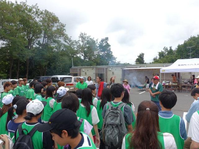 東京の高校生達と仮設住宅訪問へ