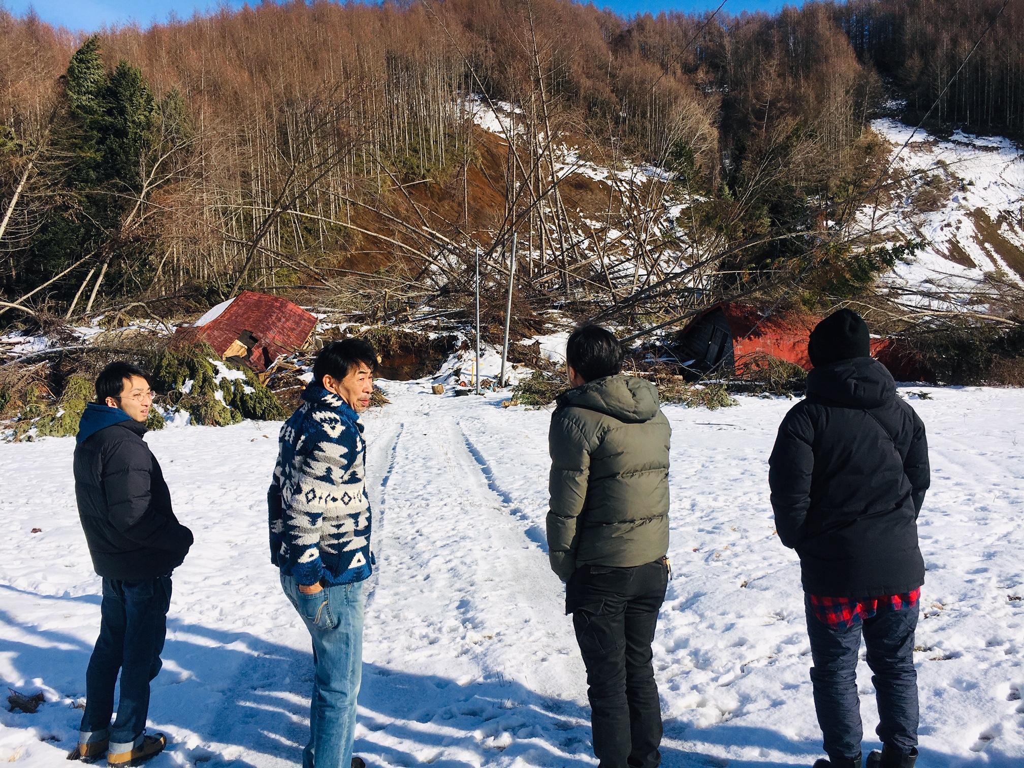 北海道胆振東部地震地域訪問
