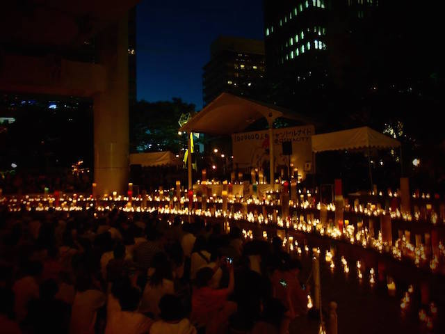 【1000000人のキャンドルナイト @OSAKA CITY 西梅田ナイト】開催